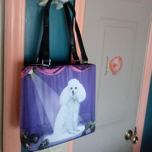 c27193e3f38 Bags | Poodle Lovers Purple Pink Bucket Style Handbag | Poshmark